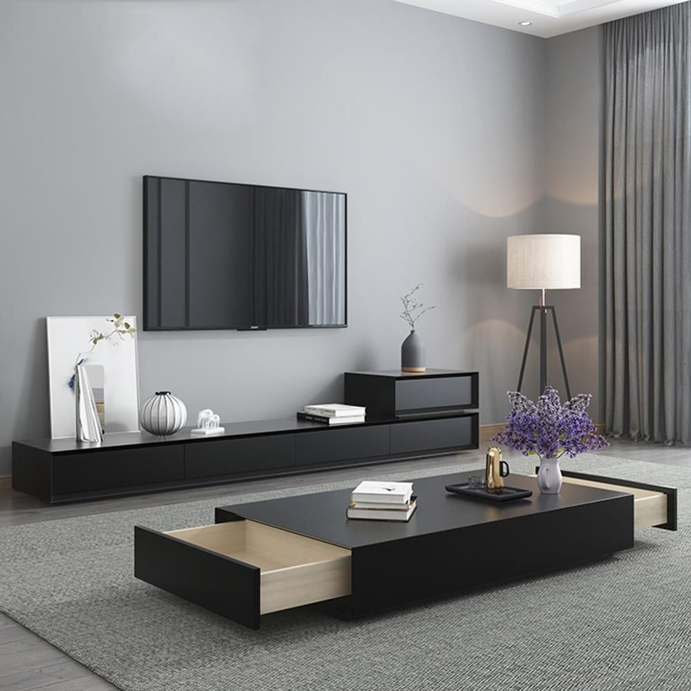 TV Stand unit modern Living Room + coffee centro table ...