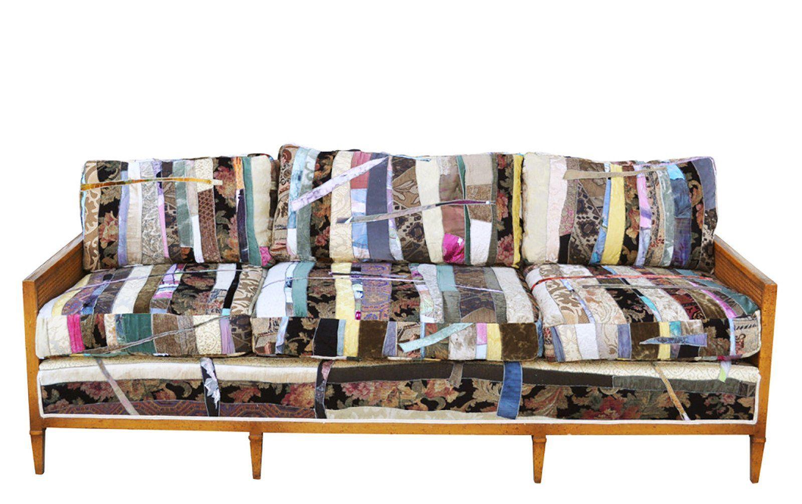 Custom Couch, Custom Fabric, Patchwork Quilt Fabric