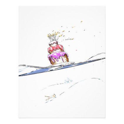 Happy Snowboarding Birthday Letterhead Snowboarding - birthday letterhead