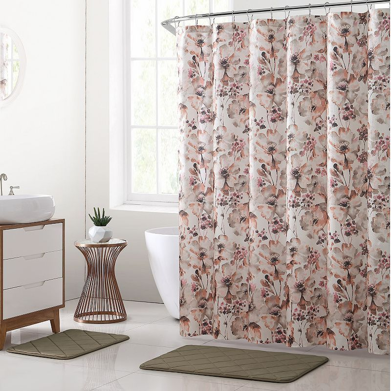 orange floral shower curtain. Vcny Daria Floral Shower Curtain Rug Bath Set OrangeVcny  Orange Showers Flowers