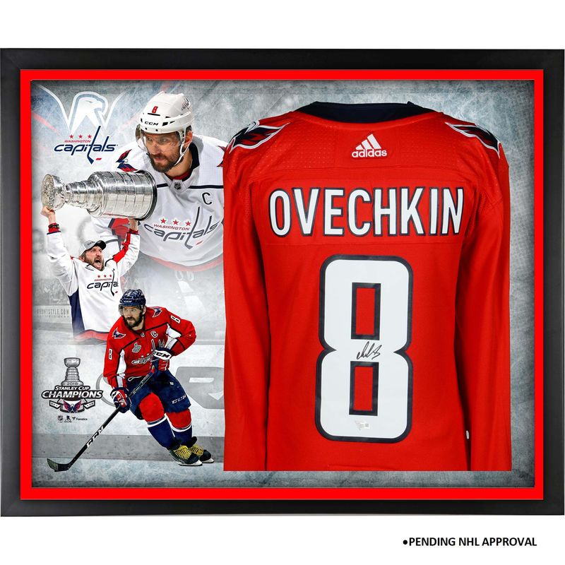 22789b83a7e Alex Ovechkin Washington Capitals Fanatics Authentic 2018 Stanley Cup  Champions Framed Autographed Red Adidas Authentic Jersey Collage