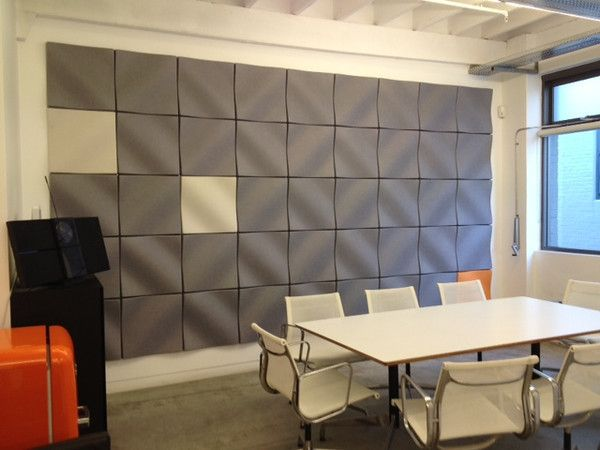 Conference Room Feature Wall Echopanel 174 Dune 444 Gray 908