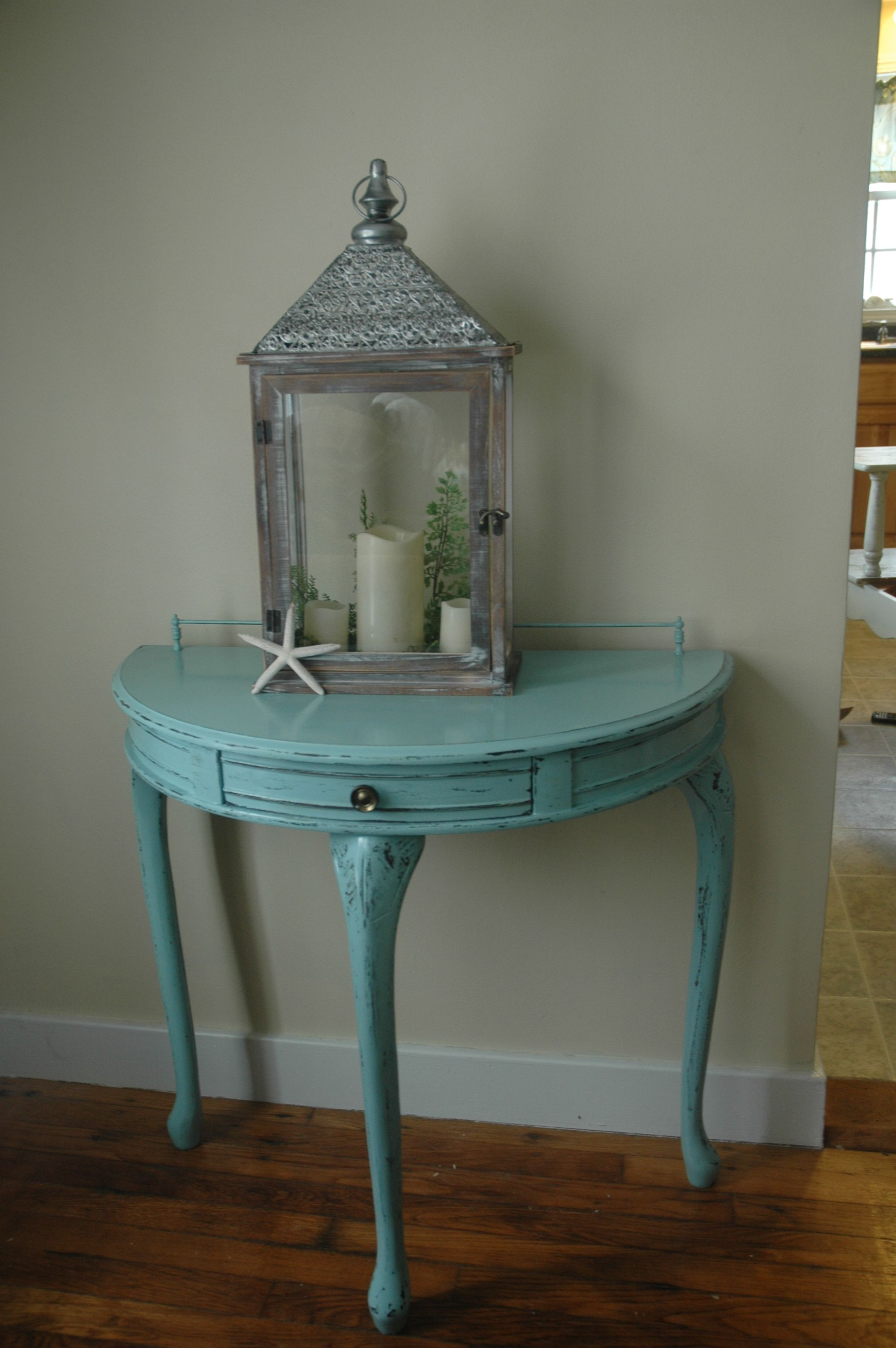 Half Table For Hallway this is an old half round hall table with a little drawer that i