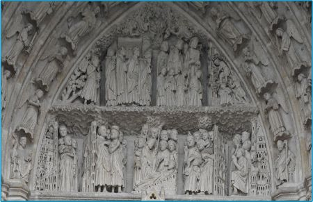 ameins 3-st firmin 1220-1240:Unknown Artist: Relief Sculptures,Amiens Cathedral [High Gothic; France]