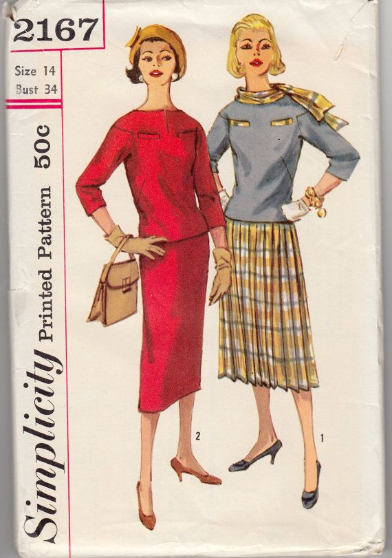 Vintage Sewing Pattern Simplicity 2167 Ladies\' by Mrsdepew on Etsy ...
