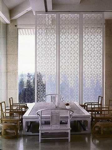 White Mashrabiya Screen Panels With Chinese Style