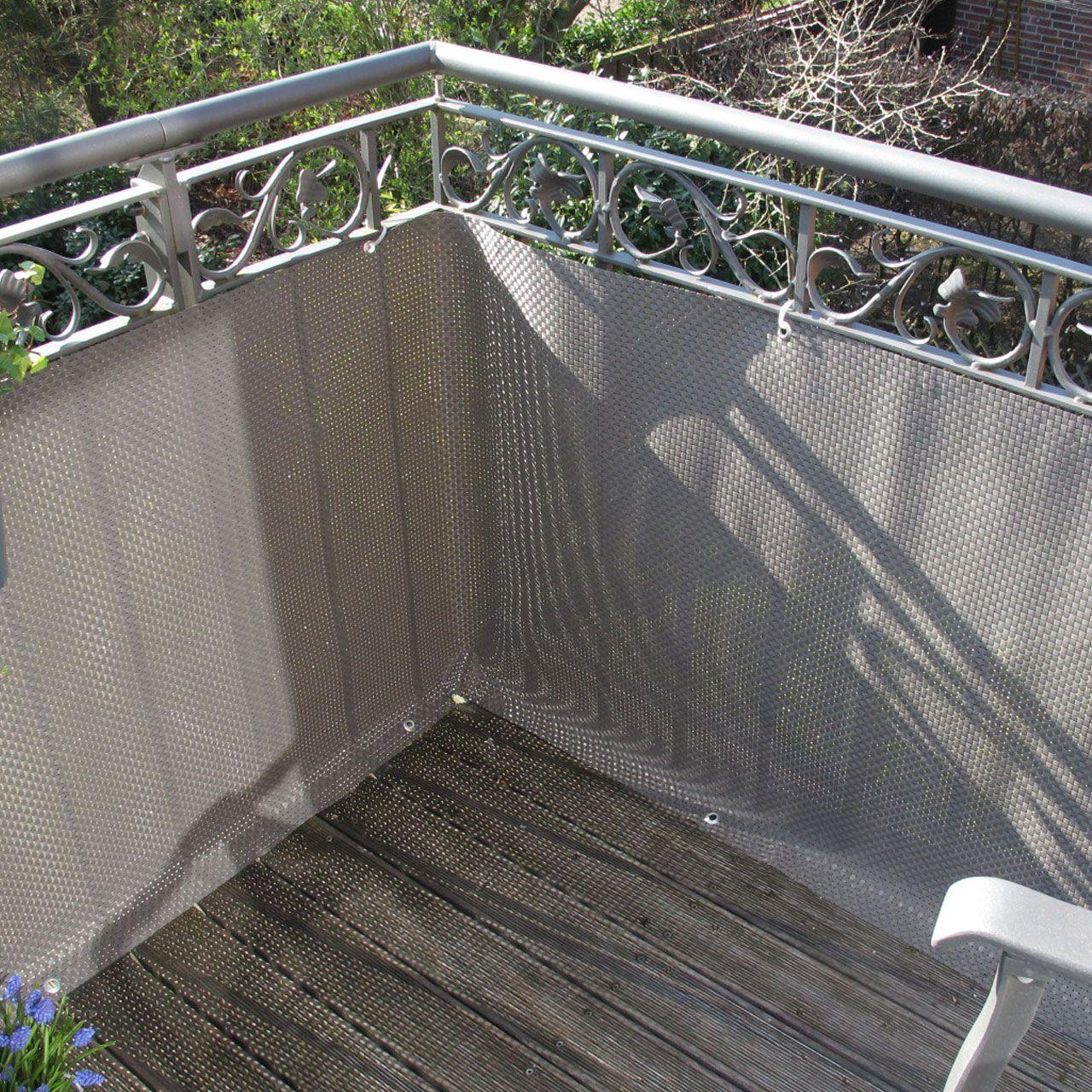 Balkonverkleidung Kunststoffgeflecht, titangrau in 2020