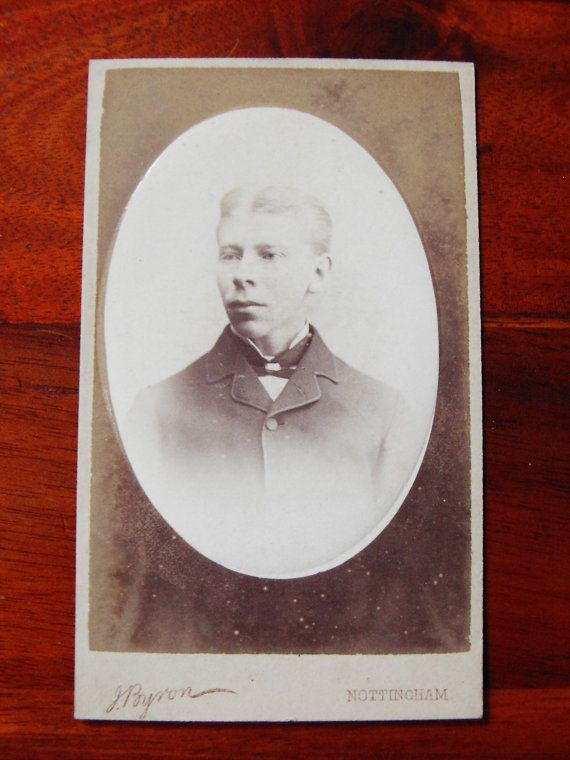 Carte De Visite Of A Young Man 1879
