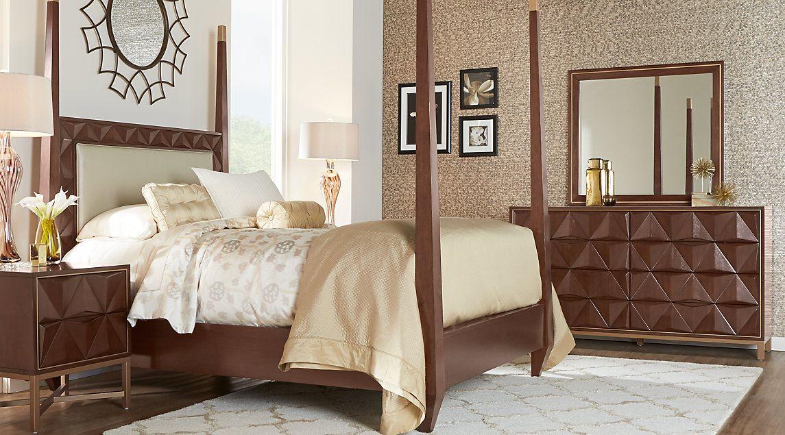 sofia vergara vallejo cherry 6 pc king poster bedroom
