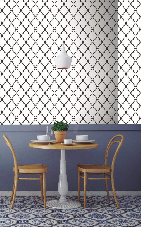 RoomMates Modern Trellis Peel and Stick Wallpaper