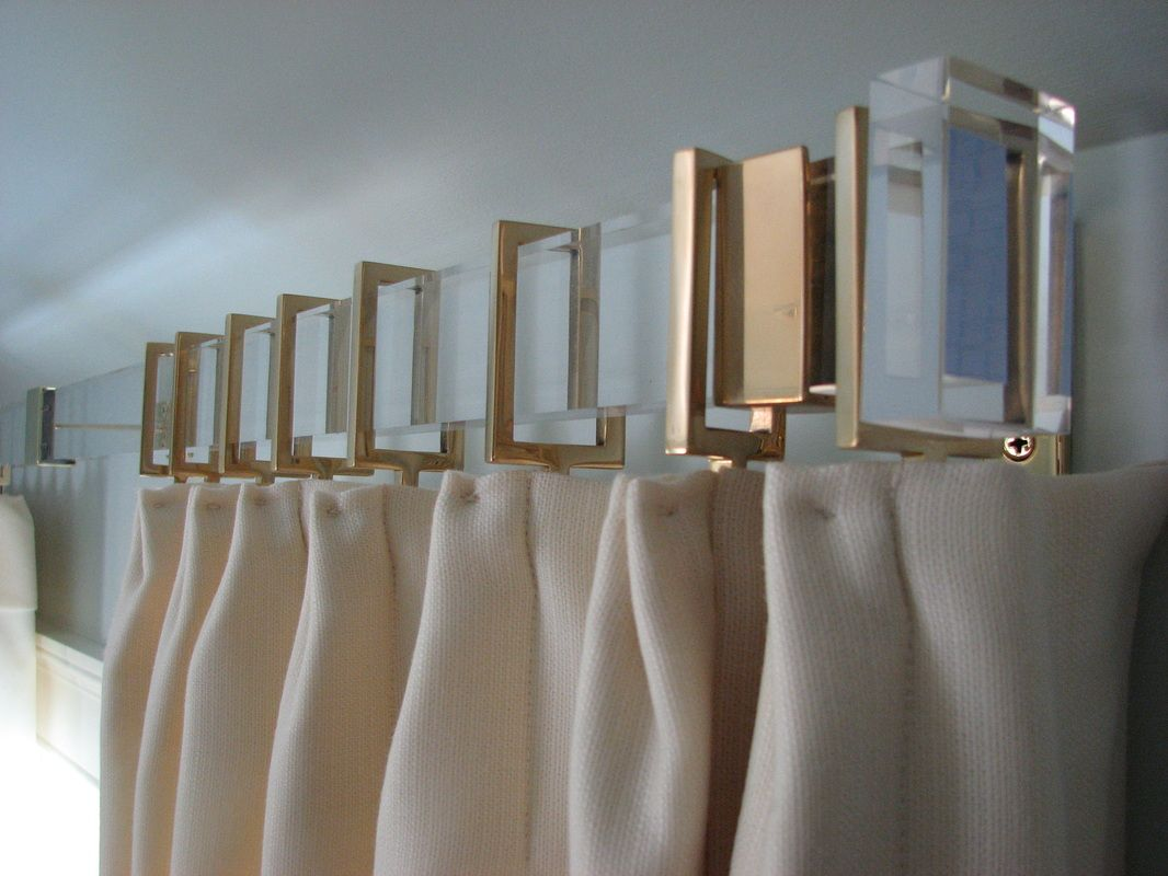 French door curtain rods - Contemporary Curtain Rods With Brass