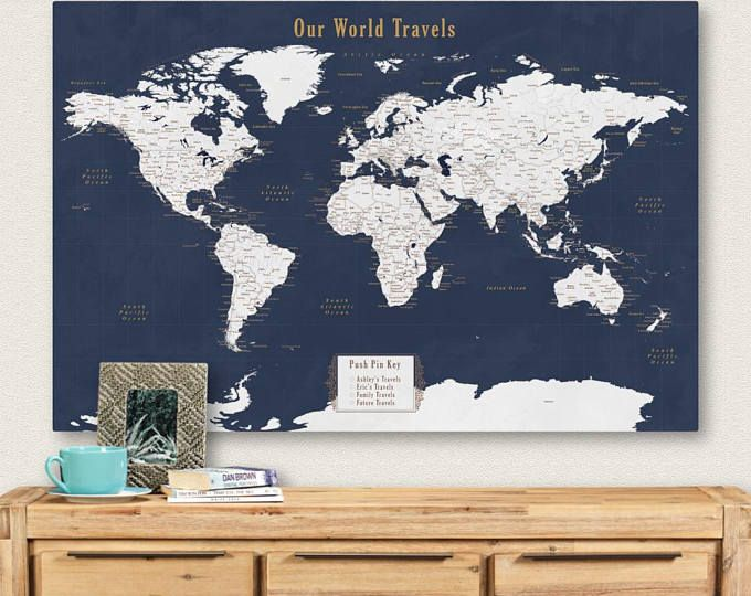 Wall map of the world map wooden travel push pin map rustic home world wall map 30x40 push pin map world map travel unique pinboard housewarming gift for parents gumiabroncs Choice Image