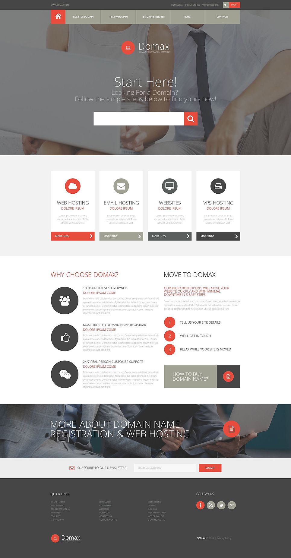 Domain Registration Website Template 52635 Website Template Design Creative Website Design Website Design Inspiration
