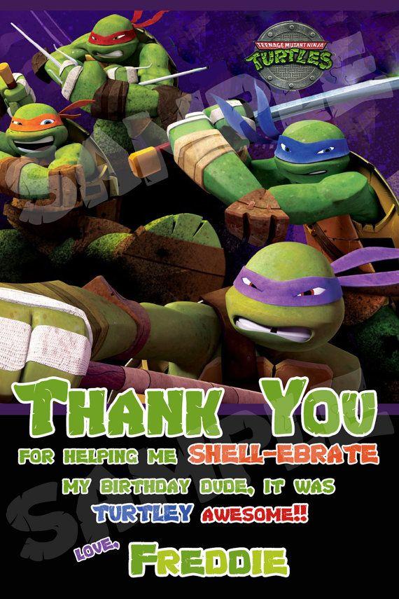 Teenage Mutant Ninja Turtles Birthday Cards Printable Infocards