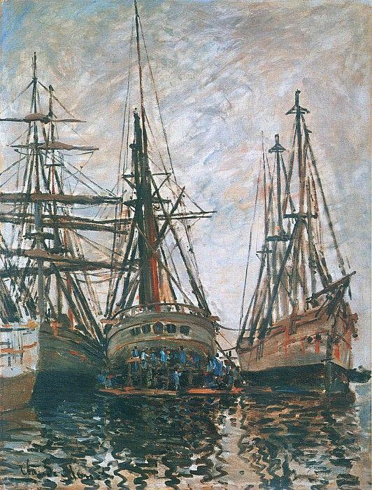 Клод Моне - Boats on Rapair, 1873