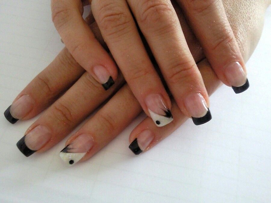 Punta negra | nails | Pinterest | Negro, Decoración de uñas y ...