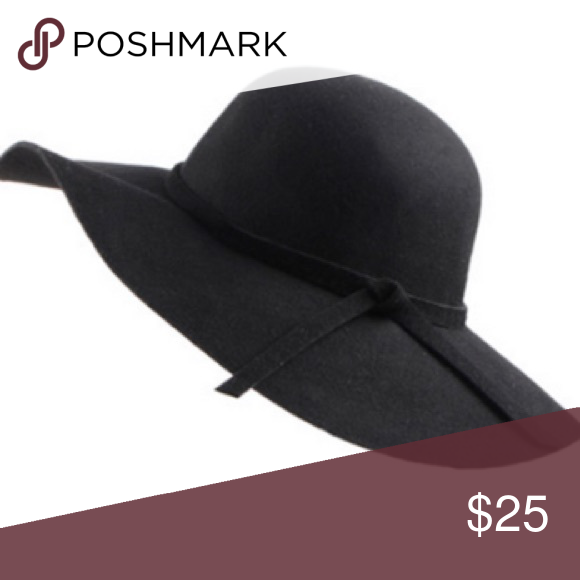 Black Wide Brim Hat black • wide brim can be worn firm or shaped to a  floppy look • new 981ccdd6a4f