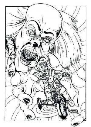 Pennywise Coloring Pages Ideas, Scary But Fun | Scary ...