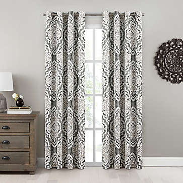 Black 95 Window Curtains Drapes Bed Bath Beyond In 2020
