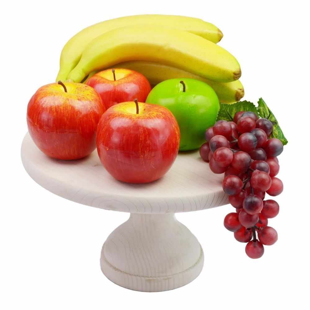 1 tier wedding cake stand solid wood cupcake fruit holder