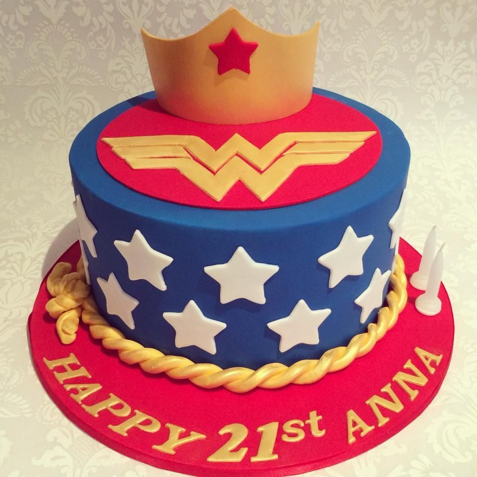 Wonder Woman Cake With Images Wonder Woman Birthday Cake