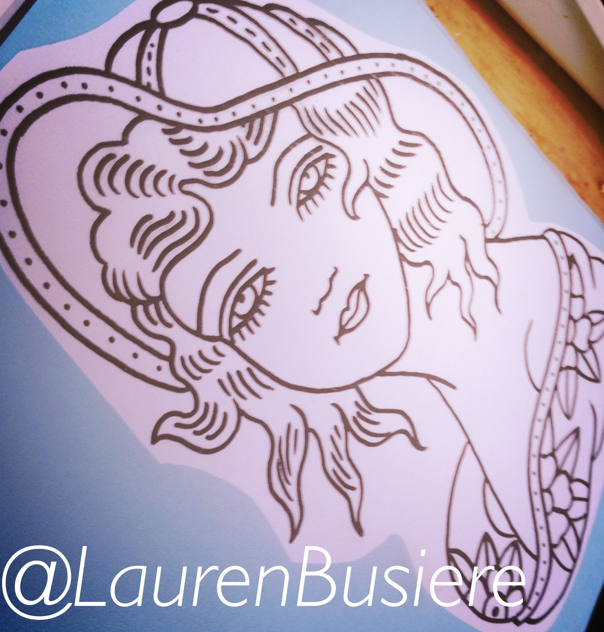 Tattoo outlines by Lauren Busiere; madebylaurenb@gmail.com for booking #tattoo #tattoos #drawing #tattooart #linebook2014 #flashart #laurenbusiere #laurenb #ragtimetattoo #stlouis #traditional #oldschool #girl #girltattoo #lady #ladyhead #ladytattoo