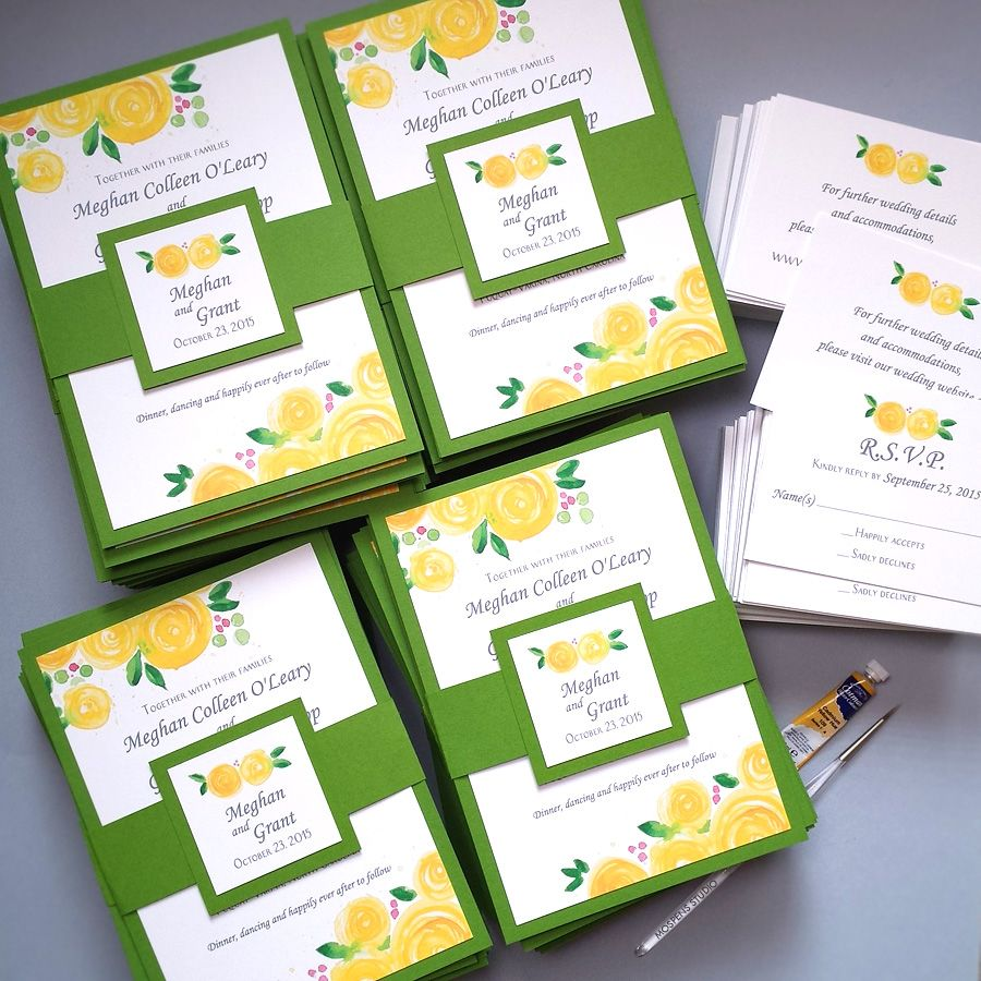 Green And Yellow Wedding Invitations – guitarreviews.co