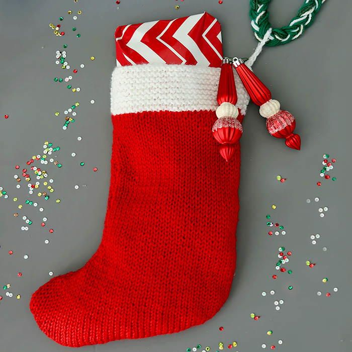 Flat Knit Christmas Stocking Knit Patterns Knitted Christmas