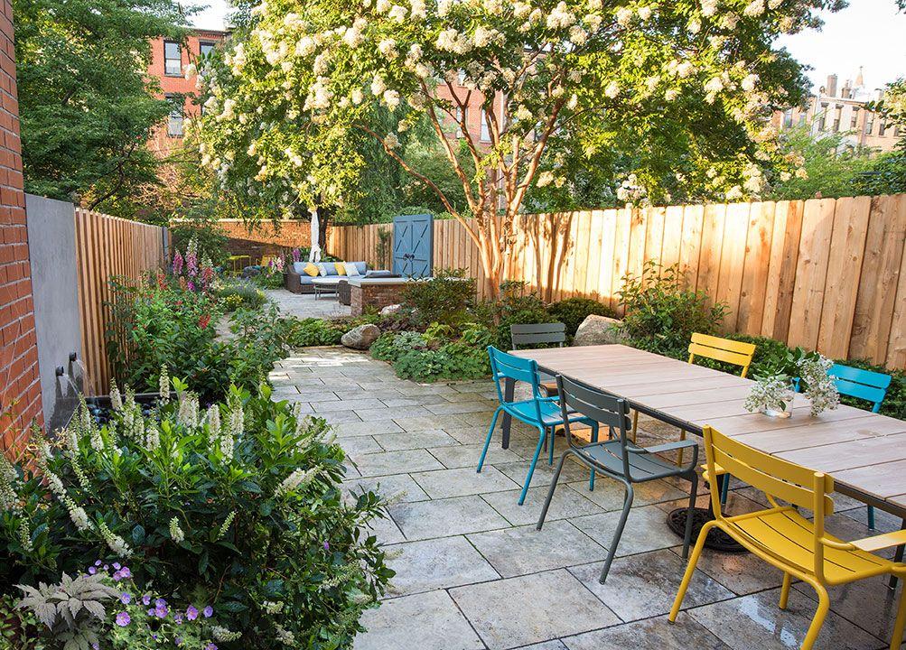 Brooklyn Garden Design With Fountains Travertine Pavers