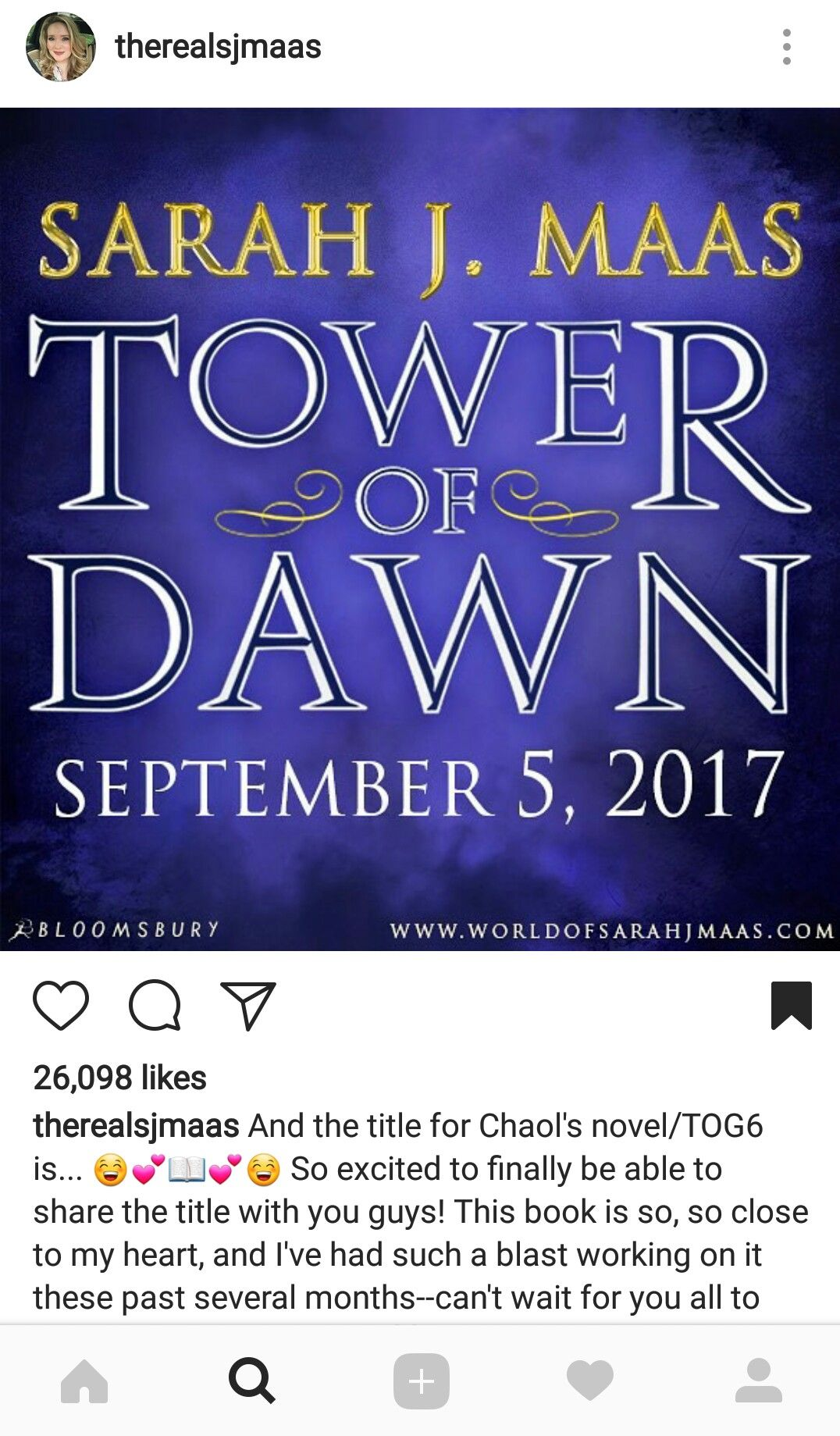 The Chaol Novel Is Officially Titled Tower Of Dawn!