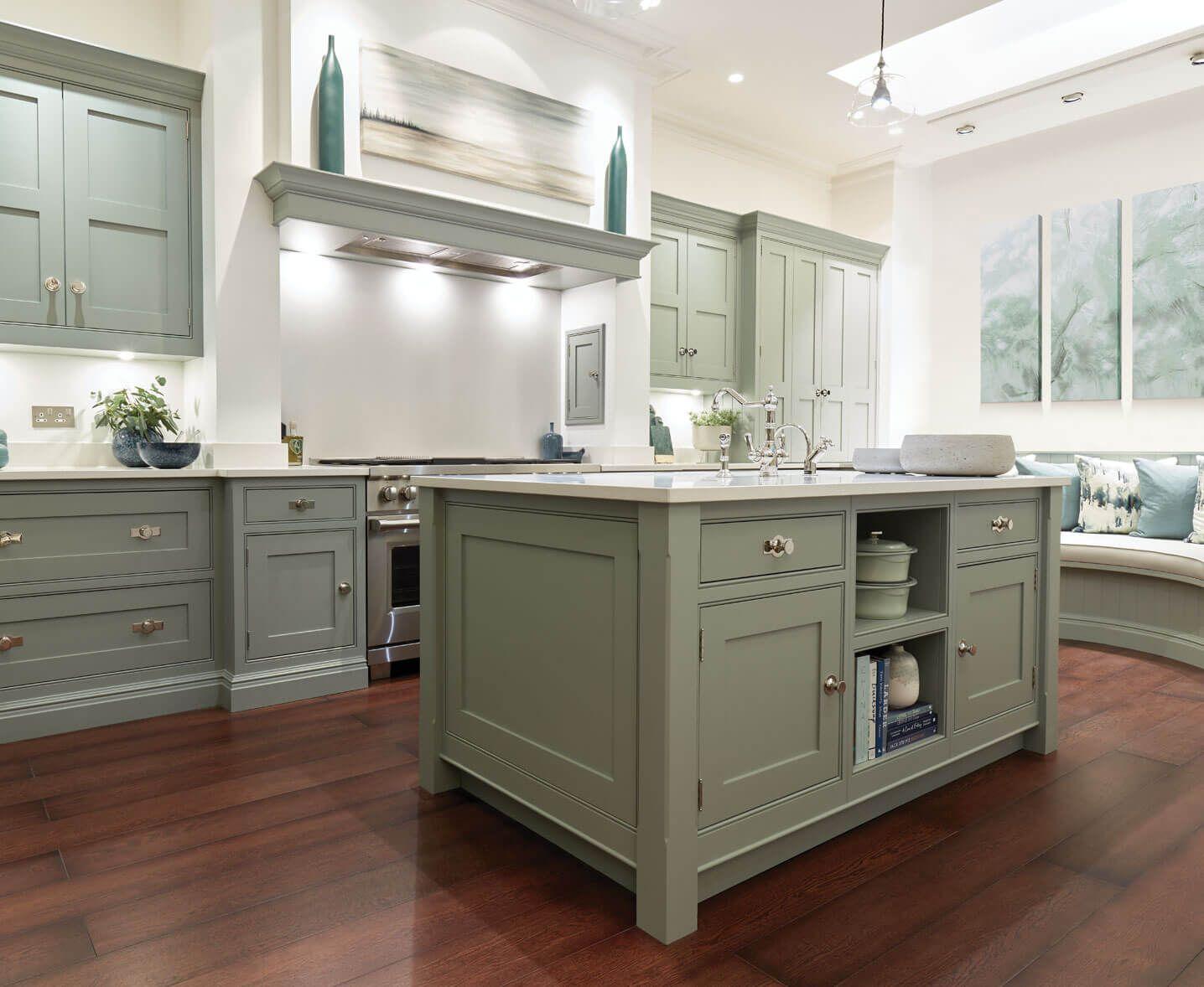 Sage Green Kitchen Shaker Kitchens Tom Howley Sage Green Kitchen Shaker Kitchen Contemporary Style Kitchen