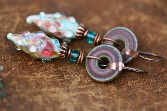 Rustic Boho Organic Forms Series earrings n116 by Tribalis