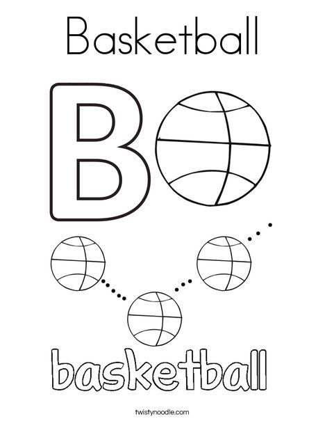 basketball coloring page tracing twisty noodle sports printable sports pages sports. Black Bedroom Furniture Sets. Home Design Ideas