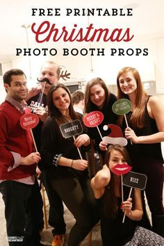 Free Printable Christmas Photo Booth Props And Signs From Elegance