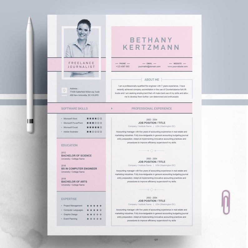 Creative And Modern Resume Cv Design Template Curriculum Etsy In 2020 Resume Design Creative Cv Cv Design