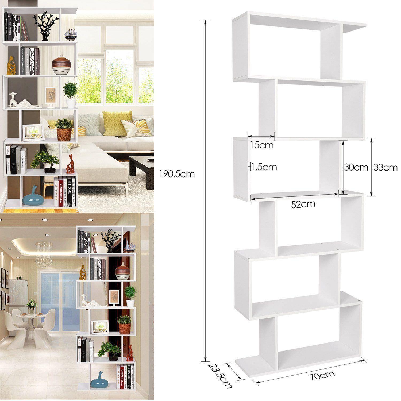 Libreria Bianca Arredamento.Libreria Design Scaffale Moderno Bianco Arredo Casa