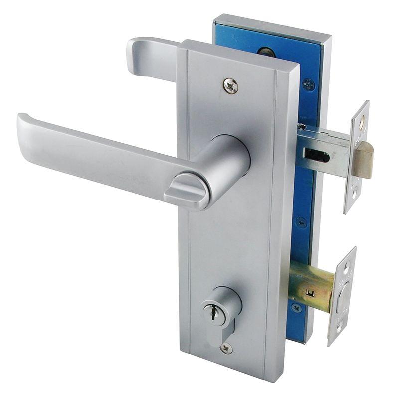 Ikonic Ashlee Satin Chrome Plated Security Entrance Set