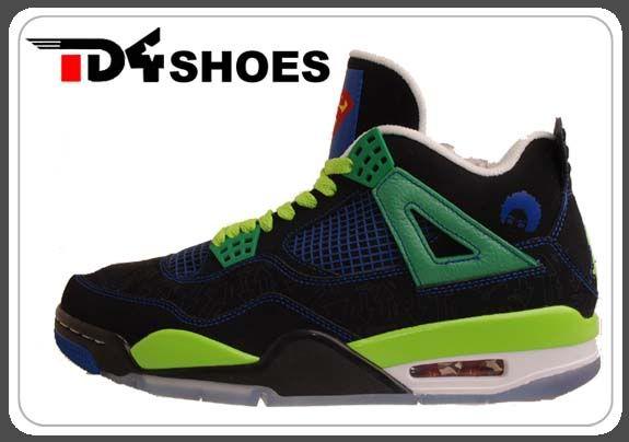 big sale 7b1fd dc96e ... the Nike Air Jordan IV 4 DB Doernbecher Superman Rare PROMO Sample  Shoes 308497-015 ...