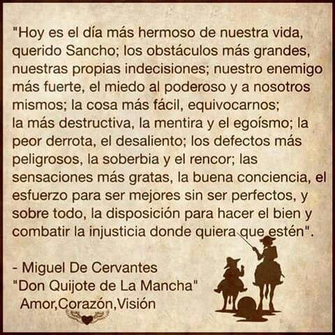 Don Quijote de La Mancha. | Miguel Cervantes | Quotes ...