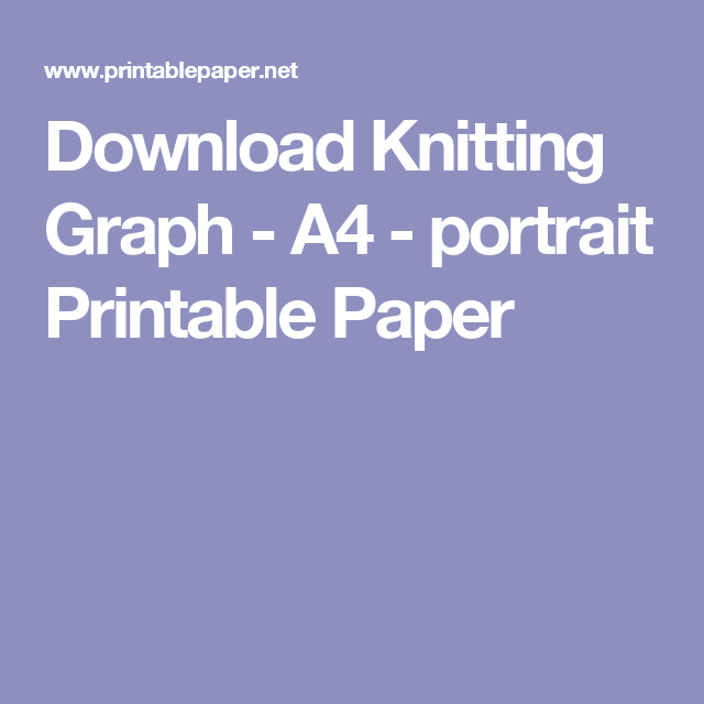 picture about Printable Knitting Graph Paper referred to as knitting printable graph paper -