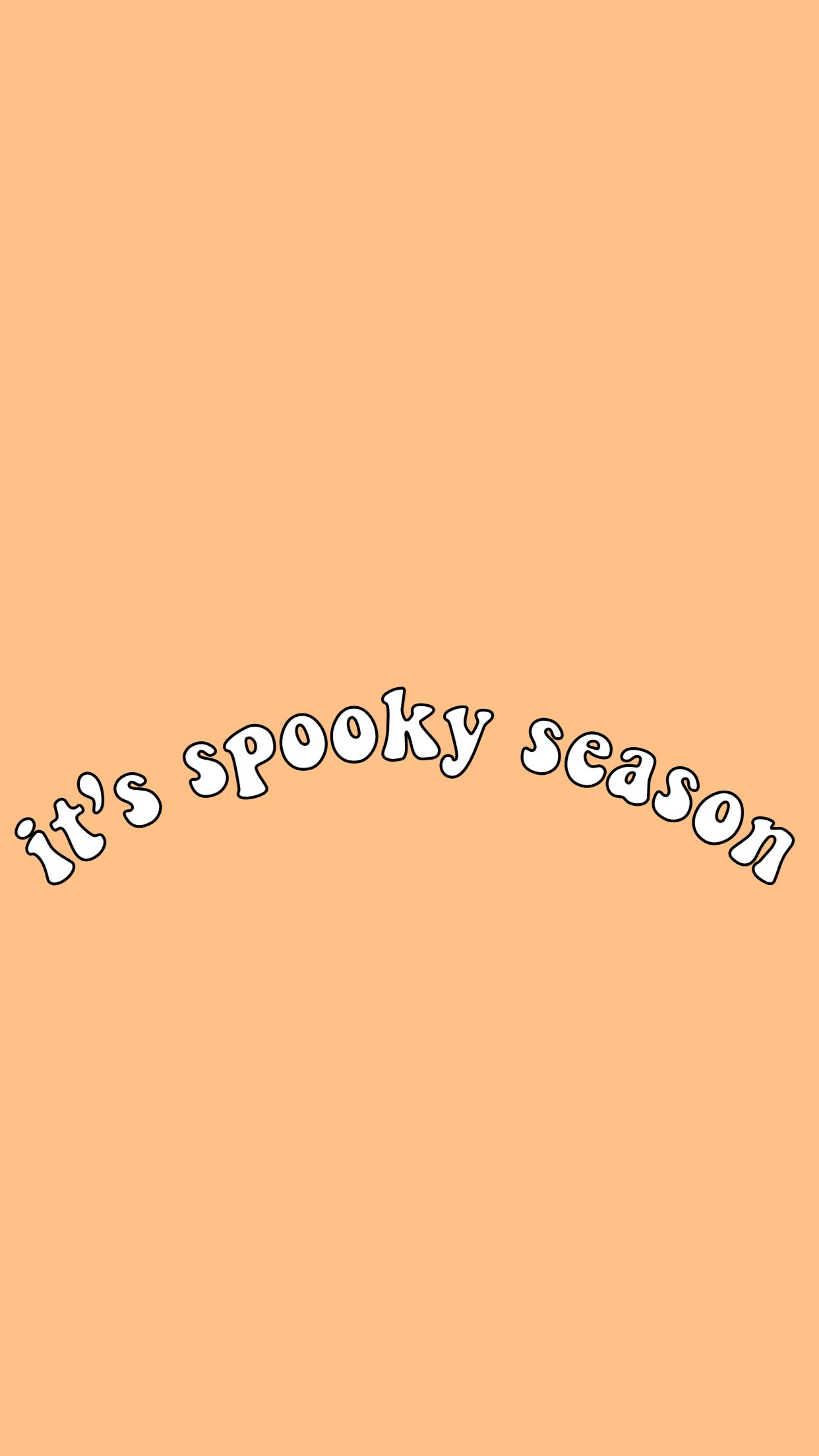 Halloween Quote Words Spooky Season Orange Aesthetic Vsco