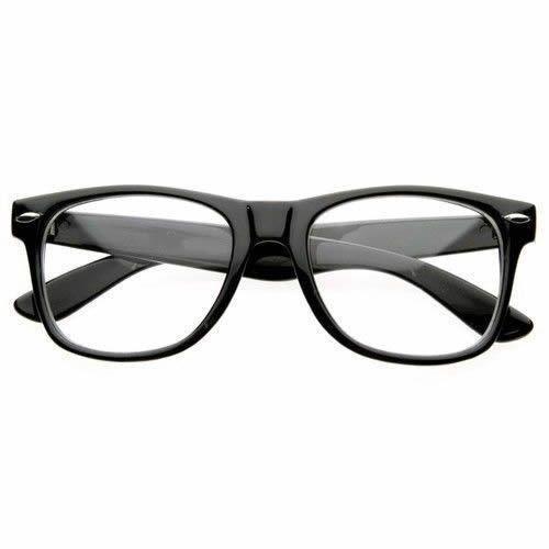 25367eb6d2b Fashion Retro Unisex Mens Womens Clear Lens Wayfarer Nerd Geek Glasses  Eyewear  WayfarerClear