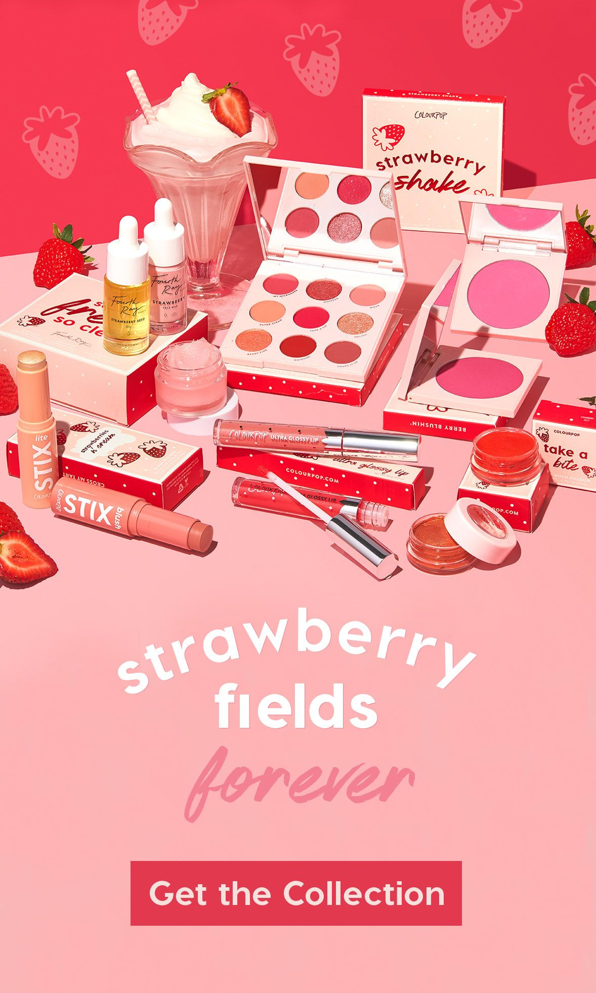 Strawberry Fields Forever — ColourPop Cosmetics 발렌타인
