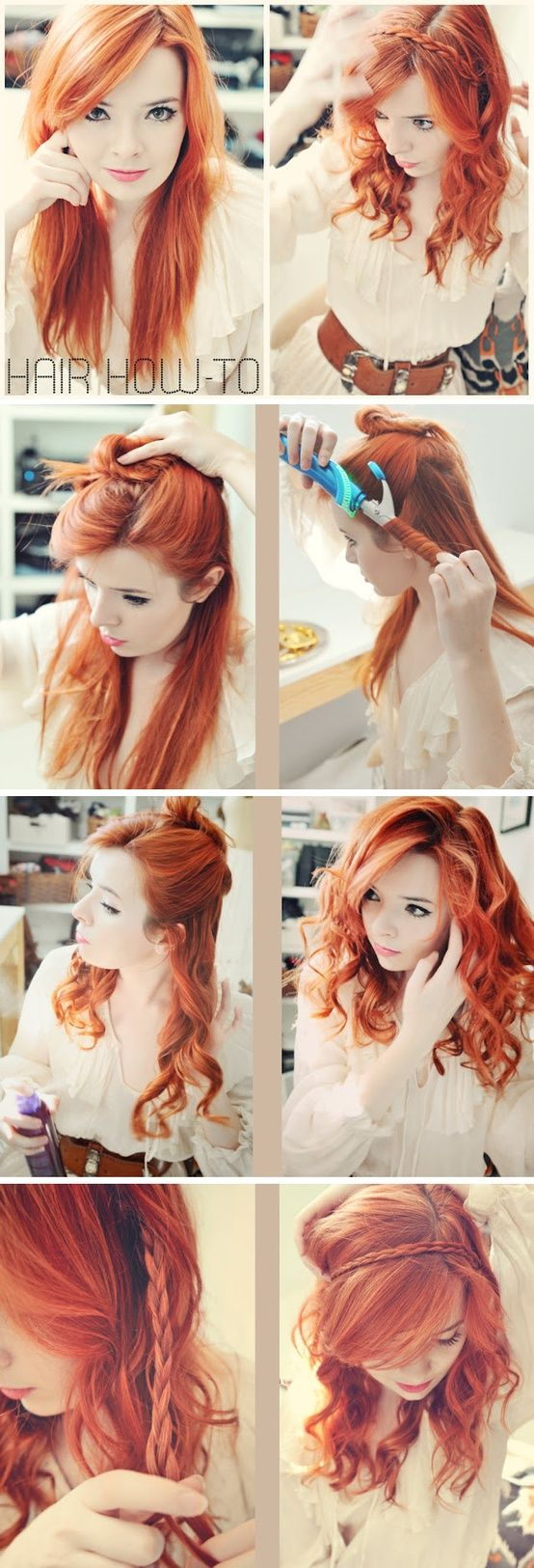 Braided headband if i ever dyed my hair it would be this color