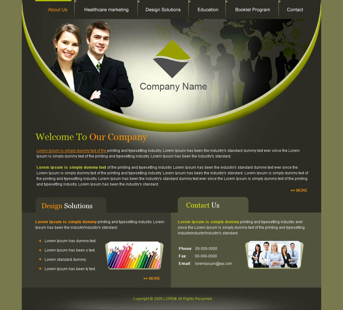 How Web Design Templates are created? Every web design template is ...