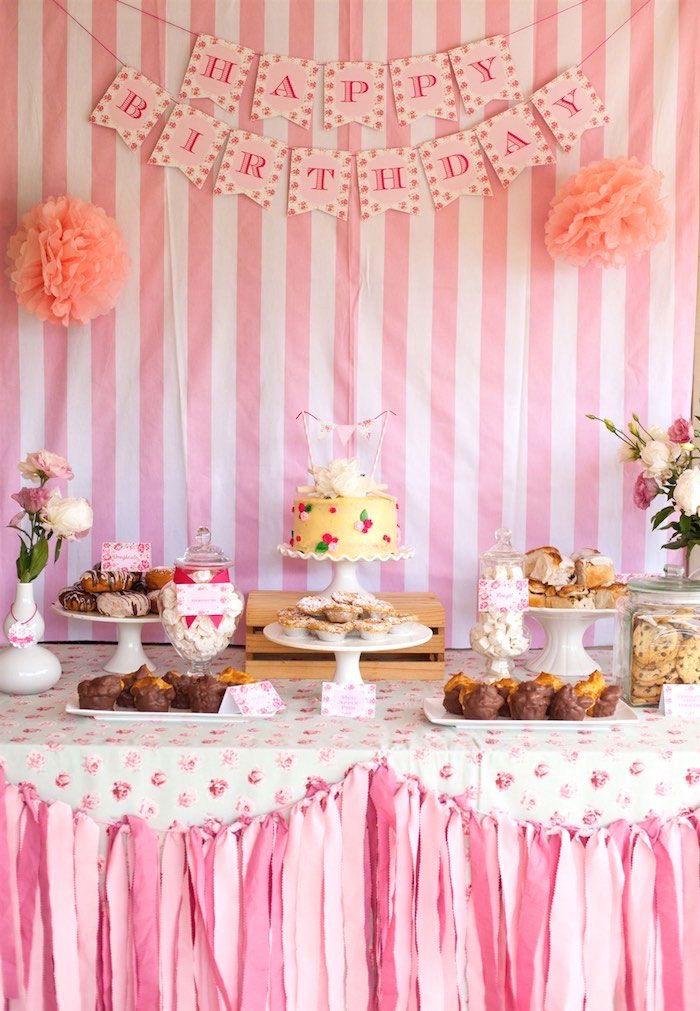 Fiesta para ni os de reposteria mesa dulce decoraci n - Decoracion de mesas para fiestas ...