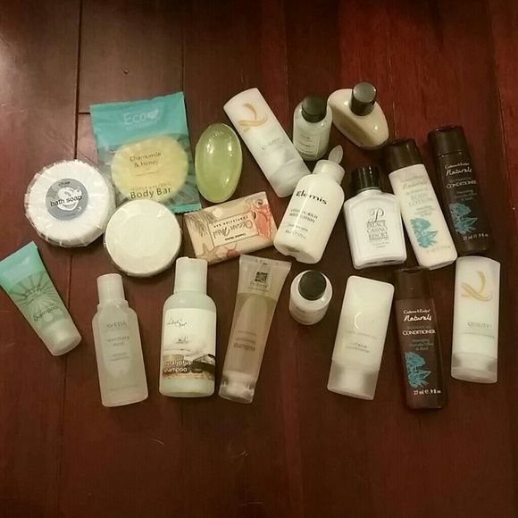 Beauty Bundle 5 soaps 5 Conditioner 5 Shampoo 5 Lotions  All new and perfect for traveling Makeup