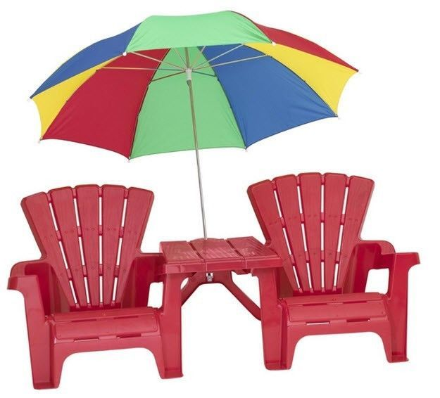 Chair Beach Kids Outdoor Pool Patio Picnic Umbrella Lawn Children Play  Tables