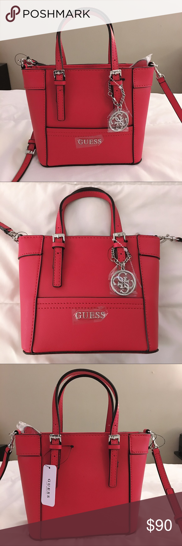 f0570b0a3026 I just added this listing on Poshmark  GUESS red delaney mini tote  crossbody bag.  shopmycloset  poshmark  fashion  shopping  style  forsale   Guess   ...