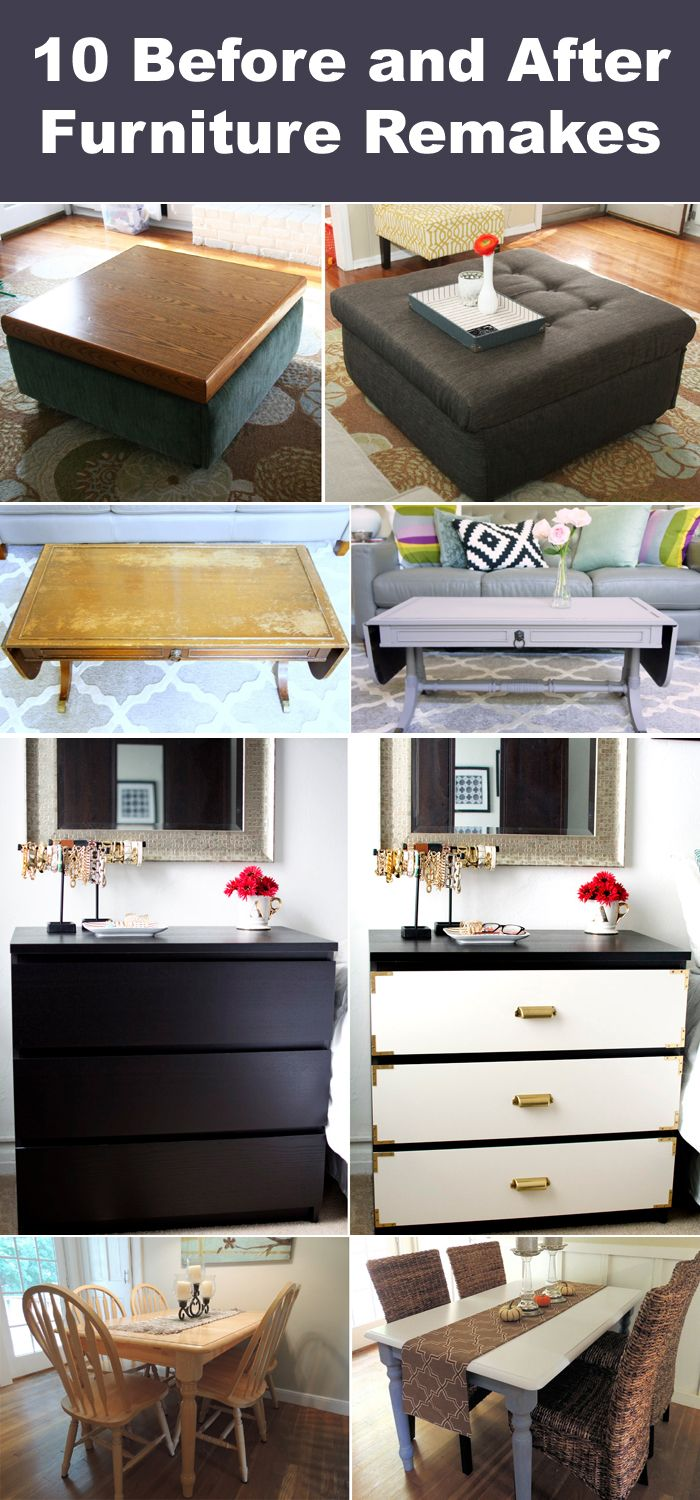 10 Before And After Furniture Remakes